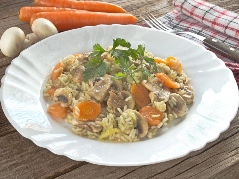 Zeleninové rizoto s parmezánom