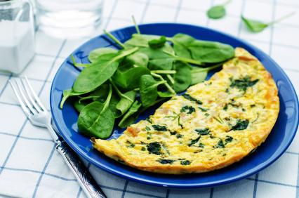 Spenatova omeleta