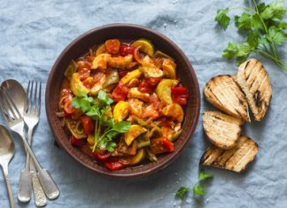 Tamarillo ratatouille