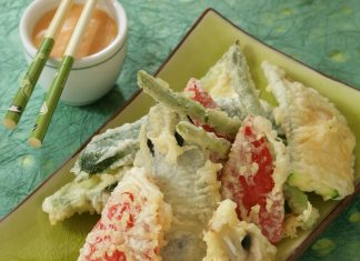 Zelenina v tempúre