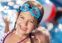 Dieťa v termálnej vode