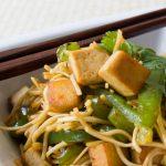 Cestoviny s tofu a zeleninou