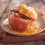 Plnené pečené jabĺčka s mandľami