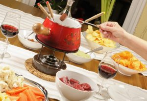 mäsové fondue