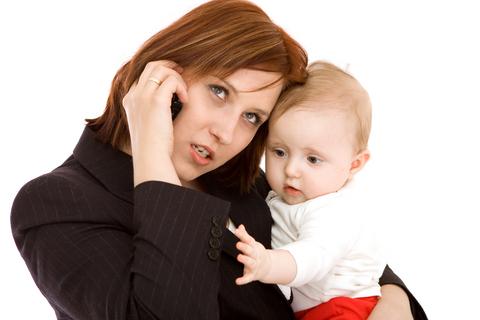 Pracujúca mamička