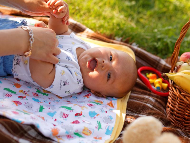 piknik s bábätkom