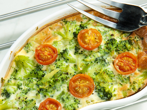 brokolica s paradajkami