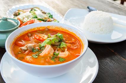 Thajská krevetová polievka Tom Yum Goong