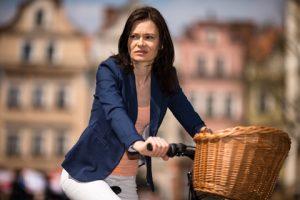 Zena na bicykli