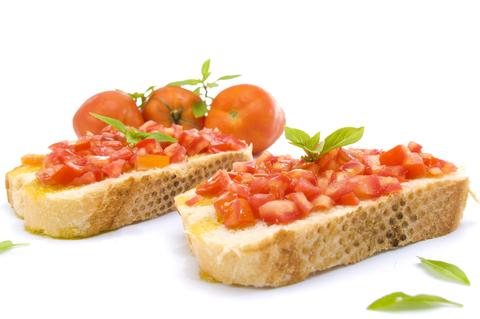 Bruschetta s paradajkovou salsou