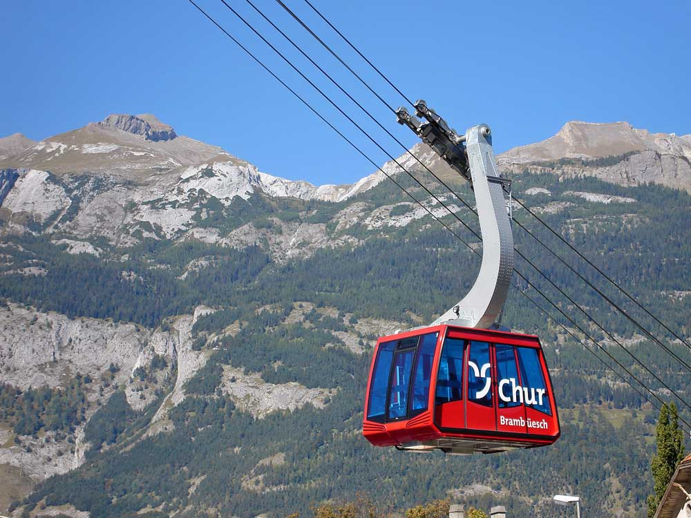 Chur, Lanovka Brambrüesch Chur © Chur Tourismus/Andrea Badrutt