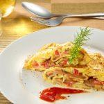 omeleta s rajčinami