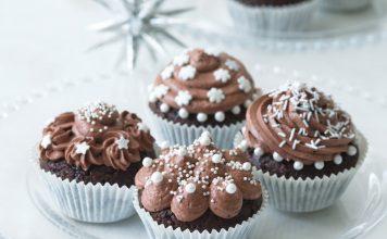 Zasnežené cupcakes