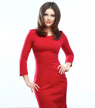 b977d4bc9c Ako sa nalíčiť k červeným šatám