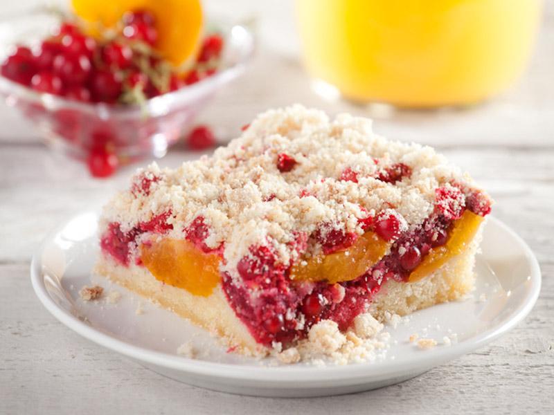 Marhuľovo-ríbezľový koláč