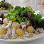 Hliva ustricová na mladých zemiakoch a hrášku