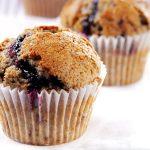 Čučoriedkové muffiny z čučoriedkového džemu