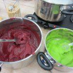 Farebná zemiaková kaša