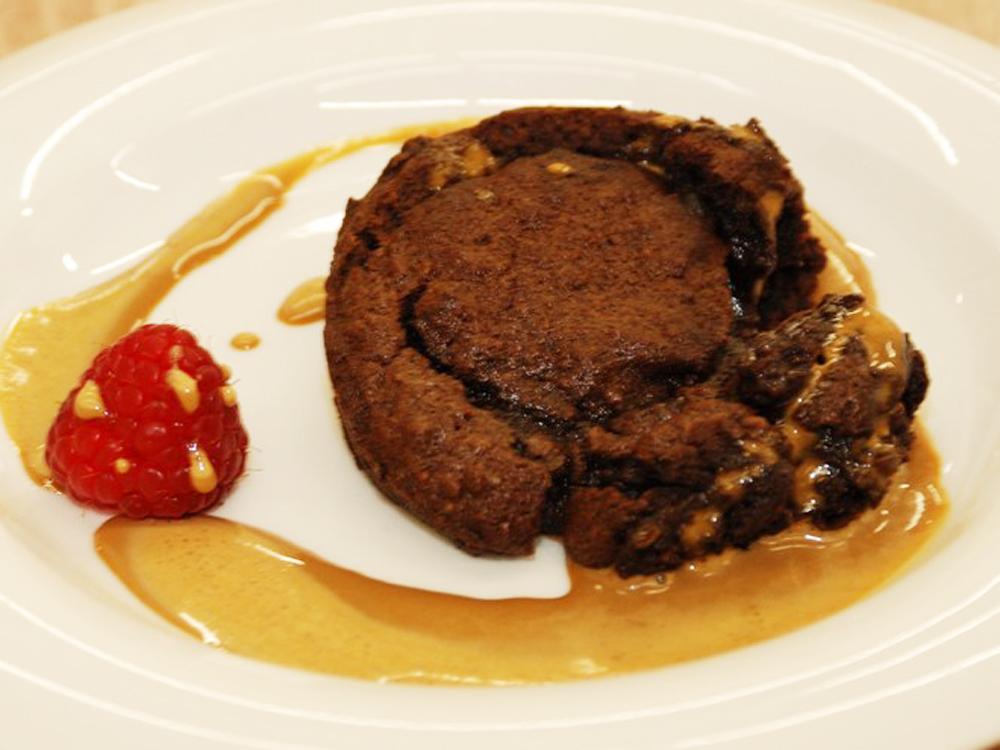 Čokoládový horúci koláčik