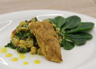 Cicerovy salat s morcacimi nugetkami