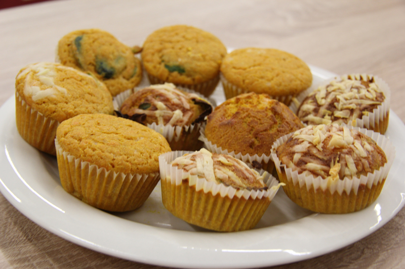 Muffiny z batátov a špenátu