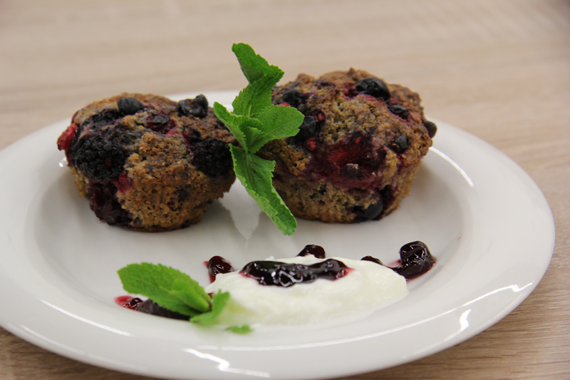 ríbezľové muffiny