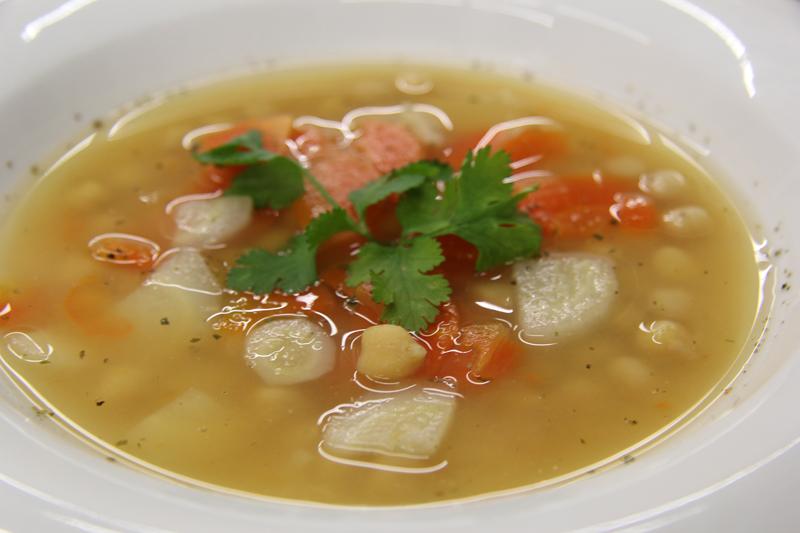Cícerová polievka so zeleninou