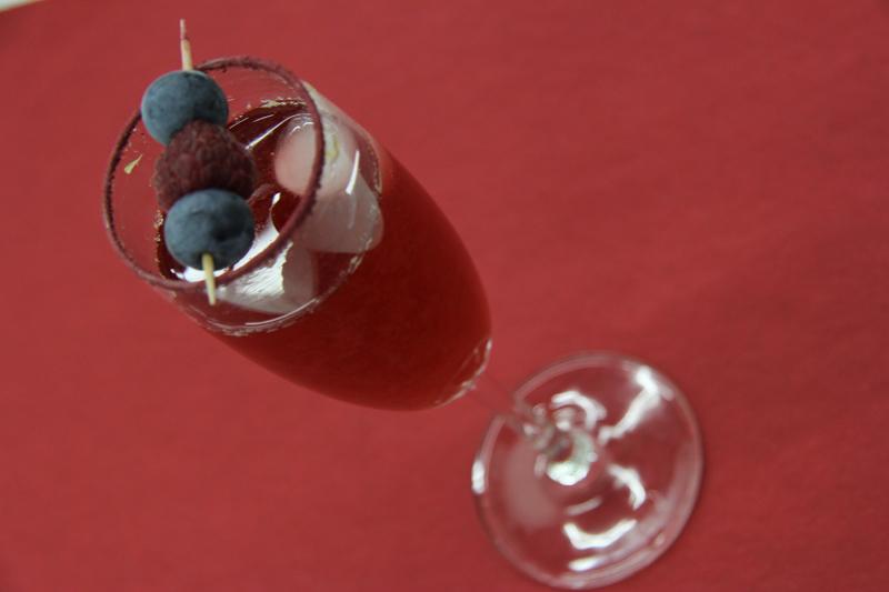 Ibištekovo - malinový nápoj