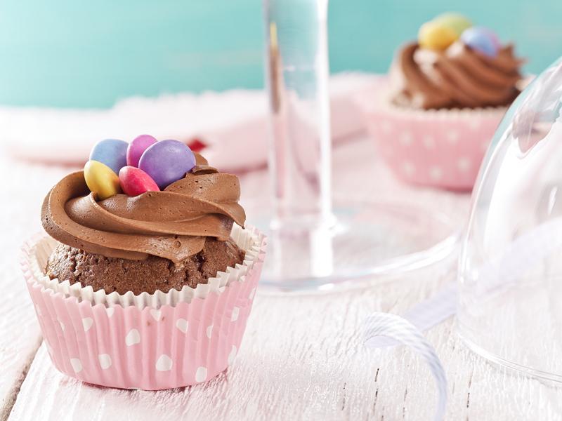 Cupcakes s čokoládovým krémom