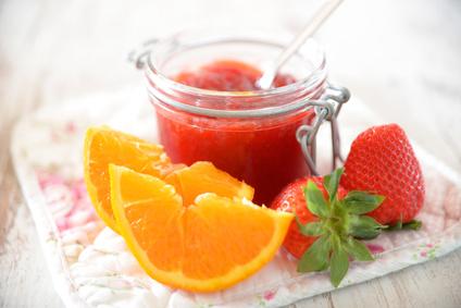 Jahodový džem s pomarančom