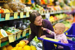 nákupy s deťmi