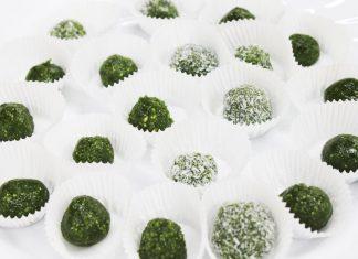 Limetkové guličky s matcha čajom