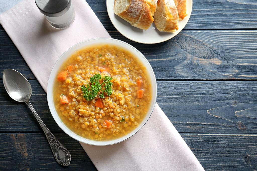 Mrkvovo-šošovicová polievka