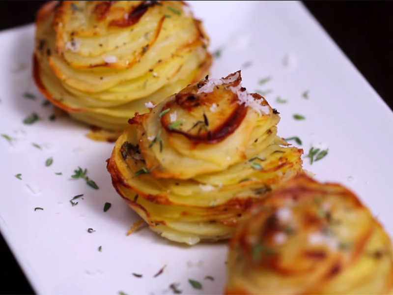 Parmezánovo-zemiakové muffiny