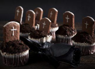 Halloweenske cupcakes