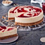 Brusnicový cheesecake