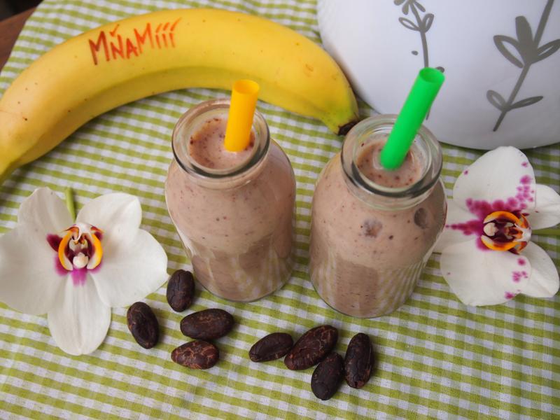 Smoothie Banán-kakaové bôby