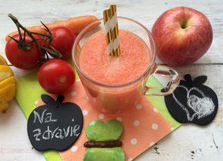 jablkové smoothie s mrkvou