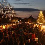Vianočná dedinka na zámku Schloss Hof
