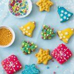 Farebné vianočné cukrovinky