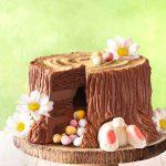 Drevená torta s minivajíčkami
