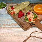 Špenátové tortilly s ružovým lososom