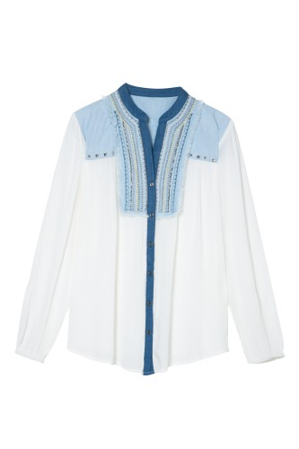biela bluzka
