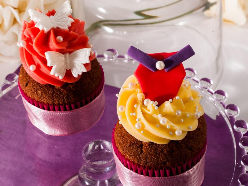 Orechové cupcakes s vanilkovým krémom