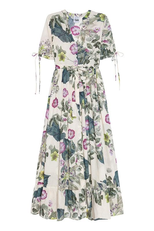 Balvlnené kvetované šaty Twin-Set