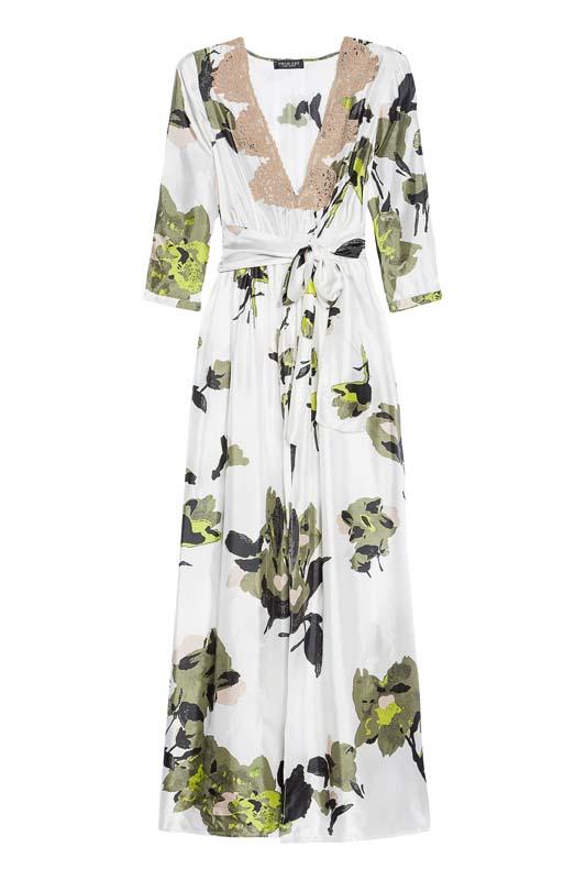 Dlhé kvetované šaty Twin-Set