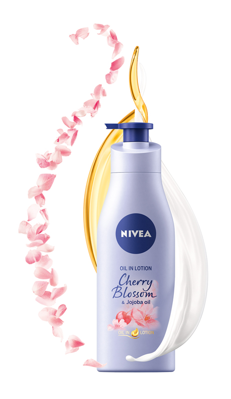Telove mlieko Cherry Blossom & Jojoba oil, NIVEA, 200 ml text£ra