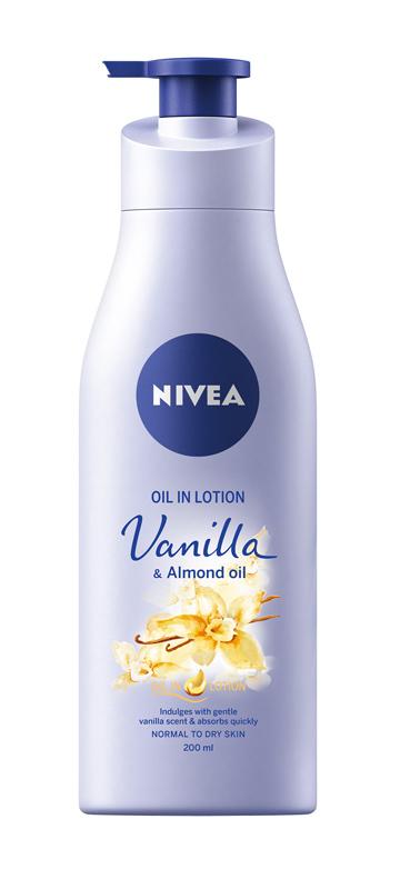 Telove mlieko Vanilla & Almond oil, NIVEA, 200 ml