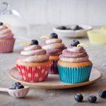 Citrónovo-čučoriedkové cupcakes