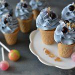 """Cupcakes """"Čučoriedková zmrzlina v kornúte"""""""